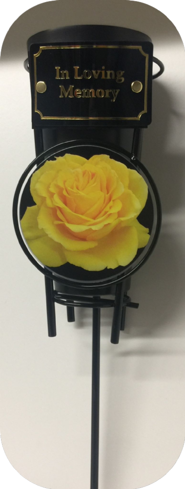 Yellow Rose Grave Spike Vase